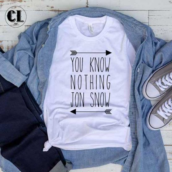 T-Shirt You Know Nothing Jon Snow