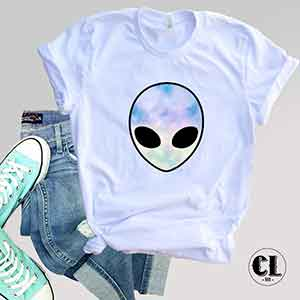 T-Shirt Alien Head