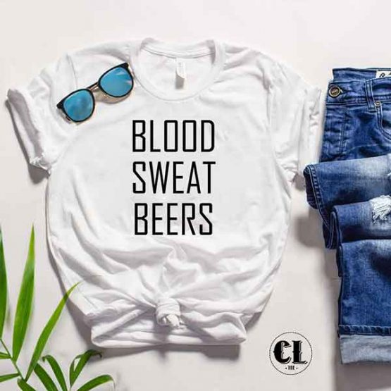 T-Shirt Blood Sweat Beers