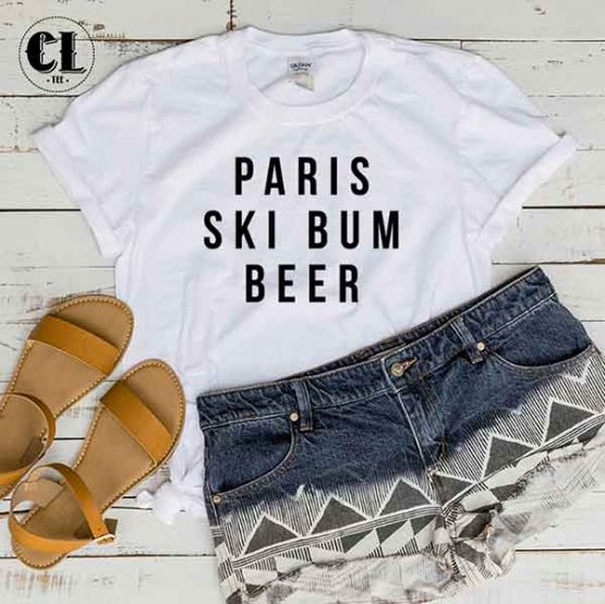 T-Shirt Paris Ski Bum Beer