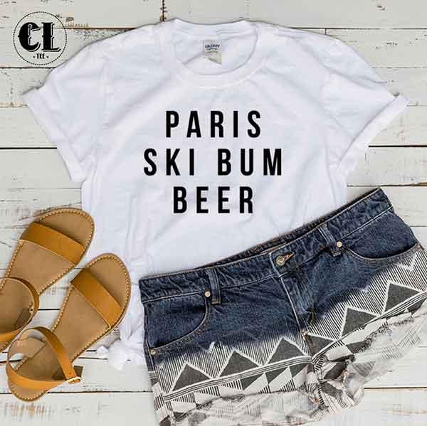 T-Shirt Paris Ski Bum Beer