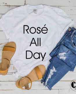 T-Shirt Rose All Day