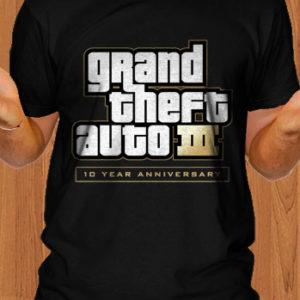 Grand Theft Auto III GTA 3 10 Year Anniversary T-Shirt