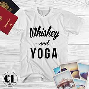 T-Shirt Whiskey and Yoga