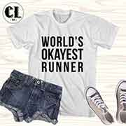 T-Shirt World's Okayest Runner