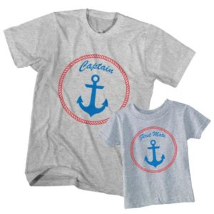 Dad and Son T-Shirt Captain First Mate