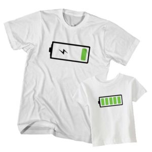 Battery Full and Low Battery t-shirt