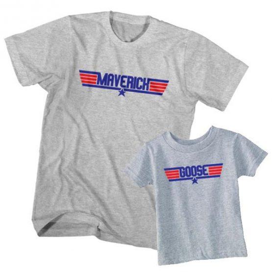 Dad and Son T-Shirt Maverick Goose