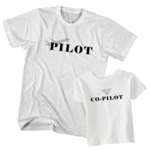 Dad and Son T-Shirt Pilot Co-Pilot