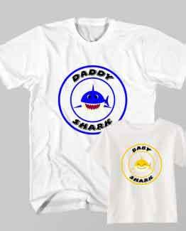 Father and Son Clothing T-Shirt Daddy Shark Baby Shark Doo Doo Do