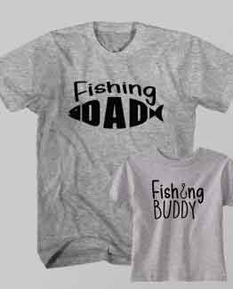 Father and Son Clothing T-Shirt Fishing Dad Fishing Buddy