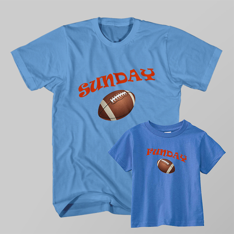 8727d2f27 Dad and Son Matching T-Shirt Sunday Funday American Football ...