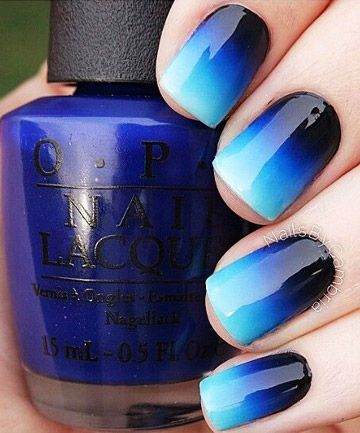 Ombre Night Sky Nail. From clotee.com