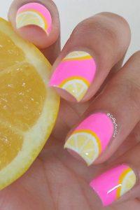 Lemon Summer Nail Design