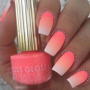 Neon Ombre Summer Nail Colors
