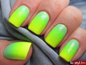 Ombre Neon Nail Colors