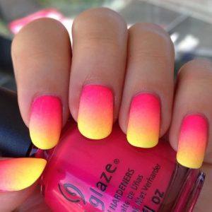 Ombre Summer Nail Design