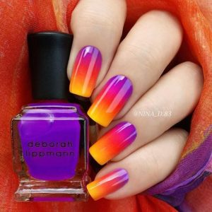 Ombre Sunset Summer Nails