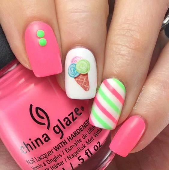 Summer Beach Nail Design