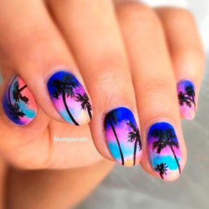 Tropical Summer Nail Ideas