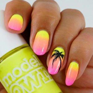 Tropical Summer Nails Art