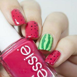 Watermelon Nail Art For Summer