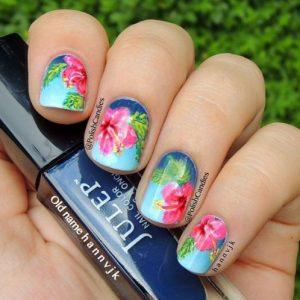 Hawaiian Floral Nail. From clotee.com