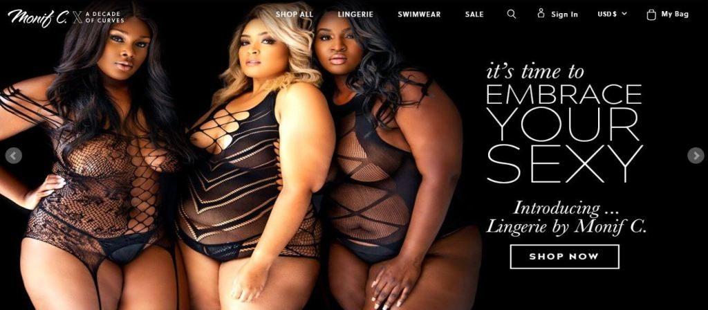 monifc plus size clothes online website screen capture