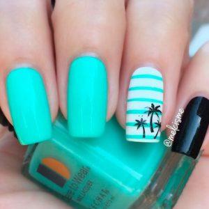 Tropical Beach Summer Nail