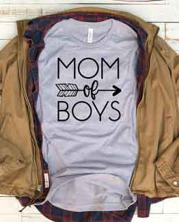 T-Shirt Mom Of Boys Mom Life