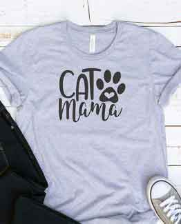 T-Shirt Cat Mama Pet Lover