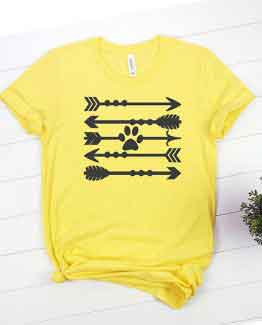 T-Shirt Paw Print Arrows Pet Lover