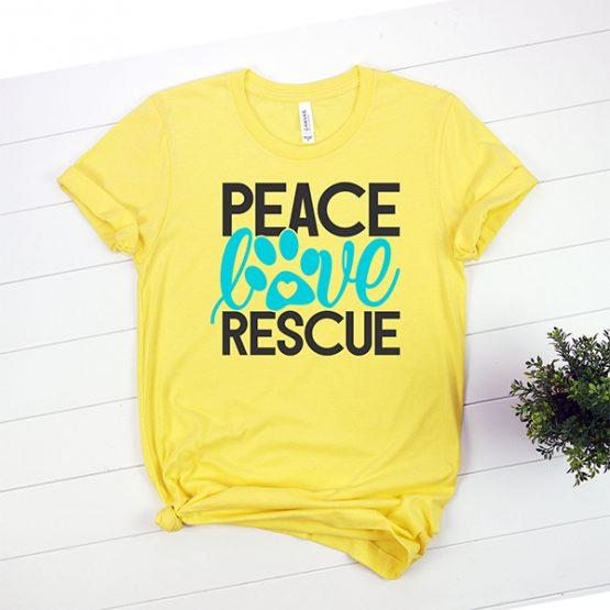 T-Shirt Peace Love Rescue Pet Lover