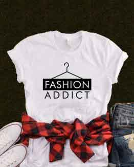 T-Shirt Fashion Addict by Clotee.com Tumblr Aesthetic Clothing