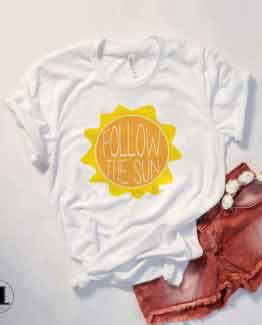 T-Shirt Follow The Sun by Clotee.com Tumblr Aesthetic Clothing