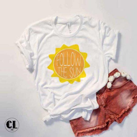 T-Shirt Follow The Sun by Clotee.com Tumblr Aesthetic Clothing
