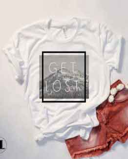 T-Shirt Get Lost by Clotee.com Tumblr Aesthetic Clothing