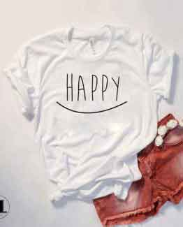 T-Shirt Happy by Clotee.com Tumblr Aesthetic Clothing