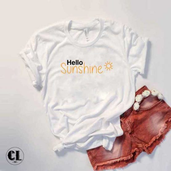 T-Shirt Hello Sunshine by Clotee.com Tumblr Aesthetic Clothing