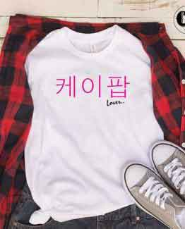 T-Shirt K-Pop Lover men women round neck tee. Printed and delivered from USA or UK