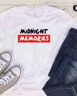 T-Shirt Midnight Memories men women round neck tee. Printed and delivered from USA or UK