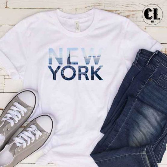 T-Shirt New York men women round neck tee. Printed and delivered from USA or UK