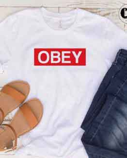 T-Shirt Obey men women round neck tee. Printed and delivered from USA or UK