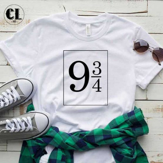 T-Shirt Platform 9 3/4 men women round neck tee. Printed and delivered from USA or UK