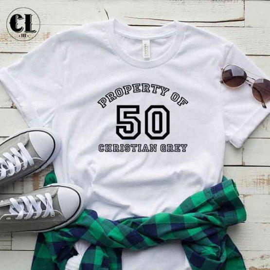 T-Shirt Property Of 50 Christian Grey