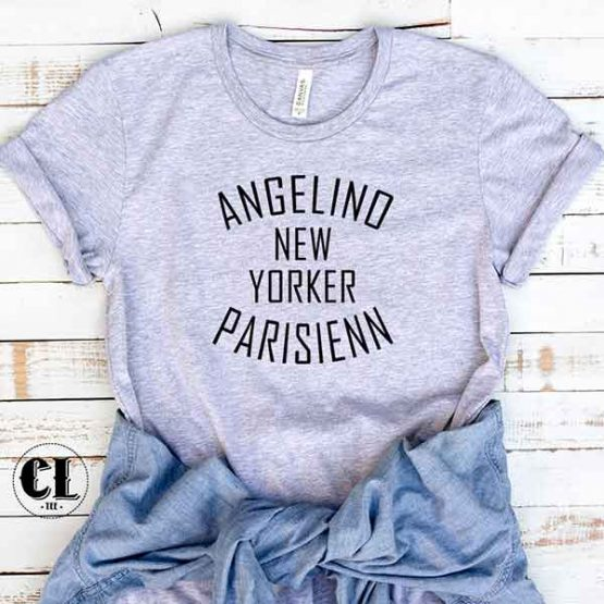 T-Shirt Angelino New Yorker Parisienne by Clotee.com Tumblr Aesthetic Clothing