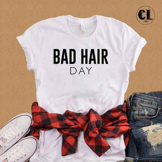 T-Shirt Bad Hair Day by Clotee.com Tumblr Aesthetic Clothing