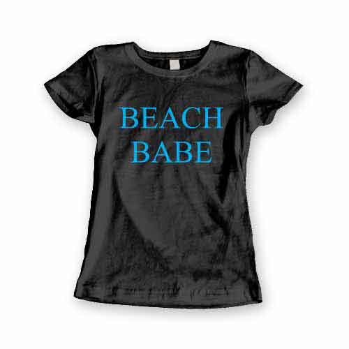 T-Shirt Beach Babe men women round neck tee. Printed and delivered from USA or UK.