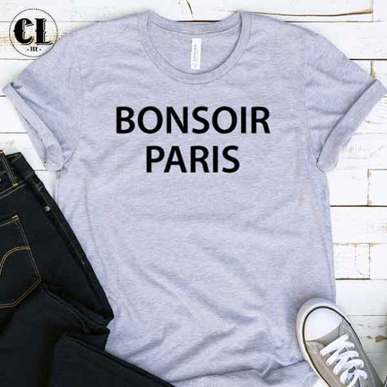 T-Shirt Bonsoir Paris by Clotee.com Tumblr Aesthetic Clothing