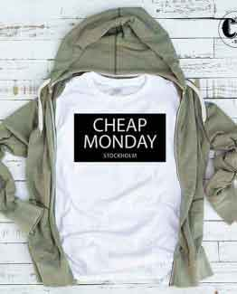 T-Shirt Cheap Monday Stockholm by Clotee.com Tumblr Aesthetic Clothing